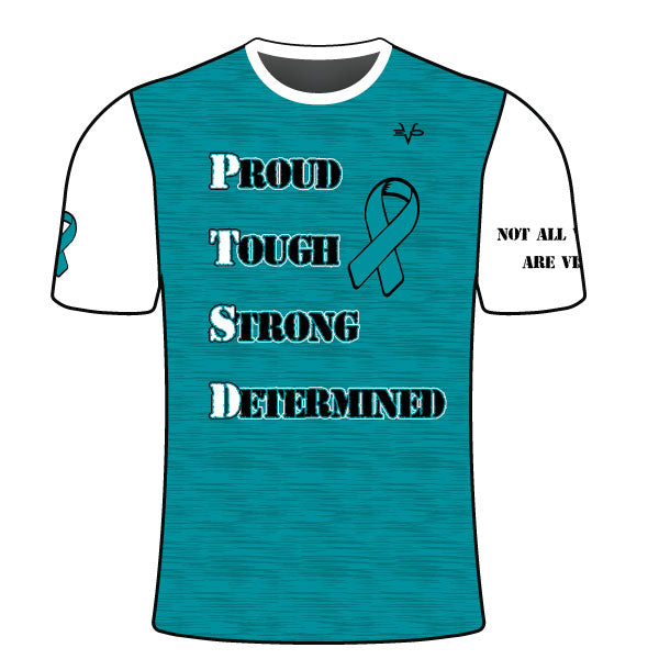 EVO PTSD AWARENESS SLOGAN SHIRT AQUA