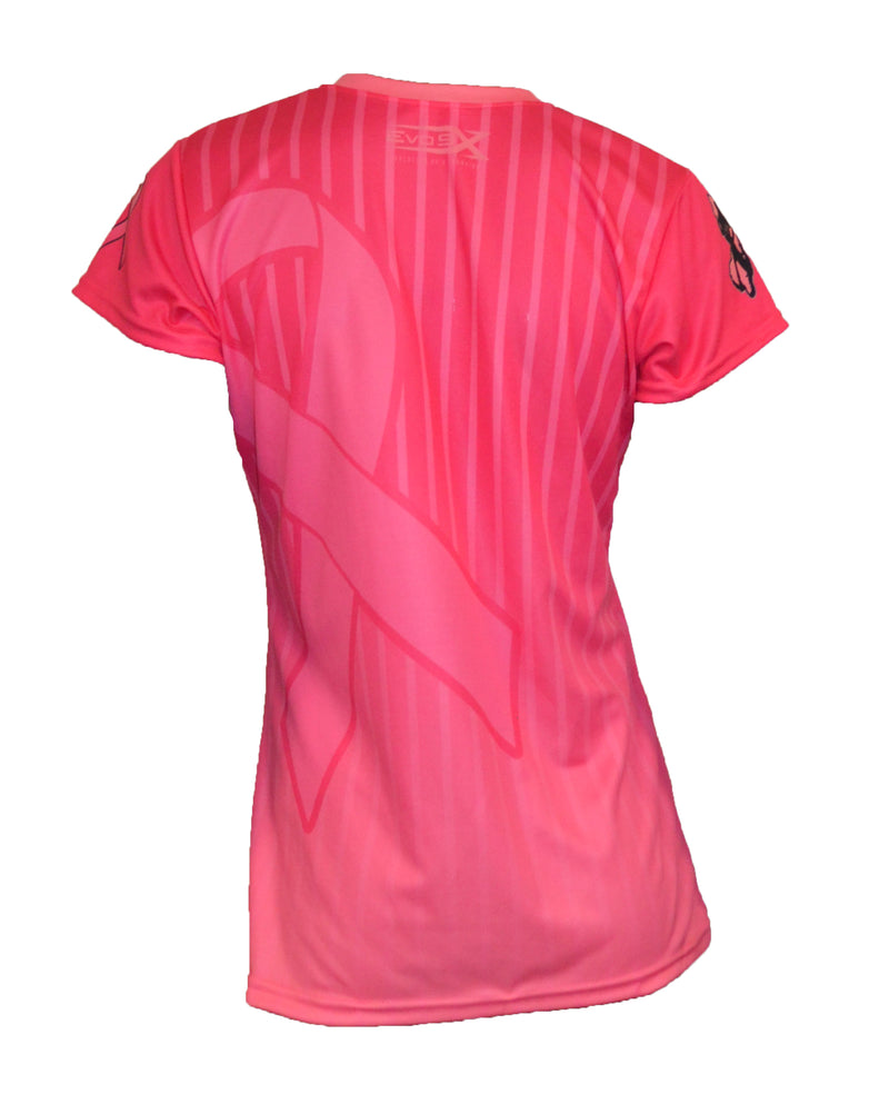 WOMENS EVO FASTPITCH NJ BREAST CANCER AWARENESS SHIRT CLEARANCE