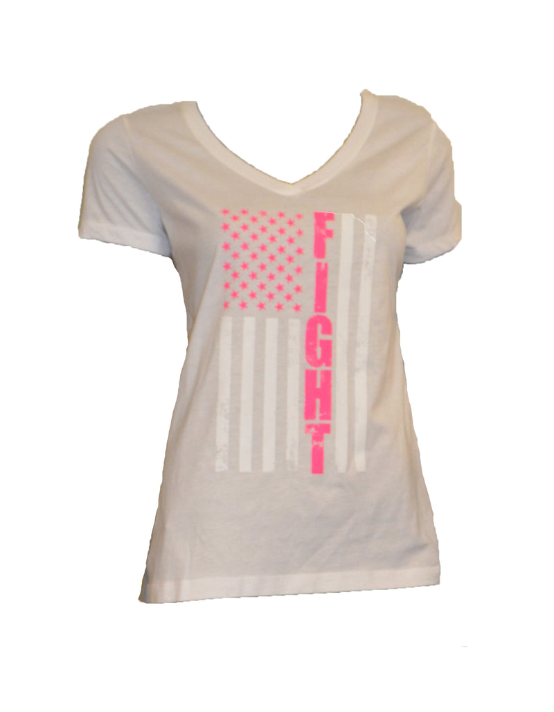 WOMENS FIGHT FLAG HALF SLEEVE  SHIRT CLEARANCE