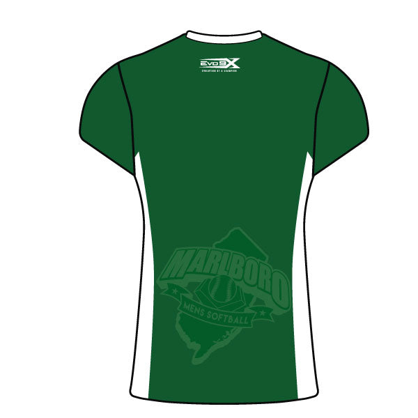 MARLBORO SOFTBALL WOMEN'S CAP SLEEVE SHIRT GREEN