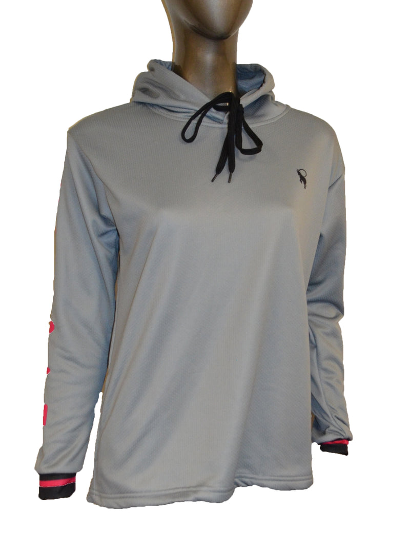 WOMENS FULL DYE SUBLIMATED GREY IMEX PULLOVER HOODIE