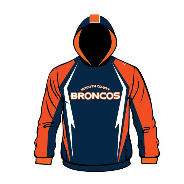 FORSYTH COUNTY BRONCOS HOODIE