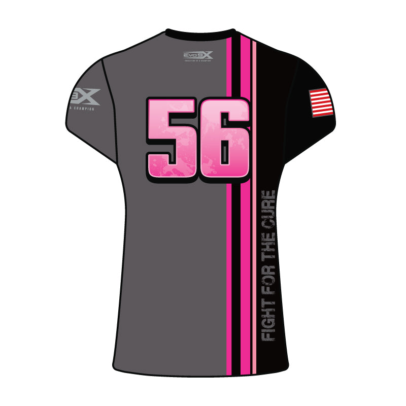 WOMENS Full Dye Sublimated Short sleeve Jersey PNK GRY RTRO STRP HOPE