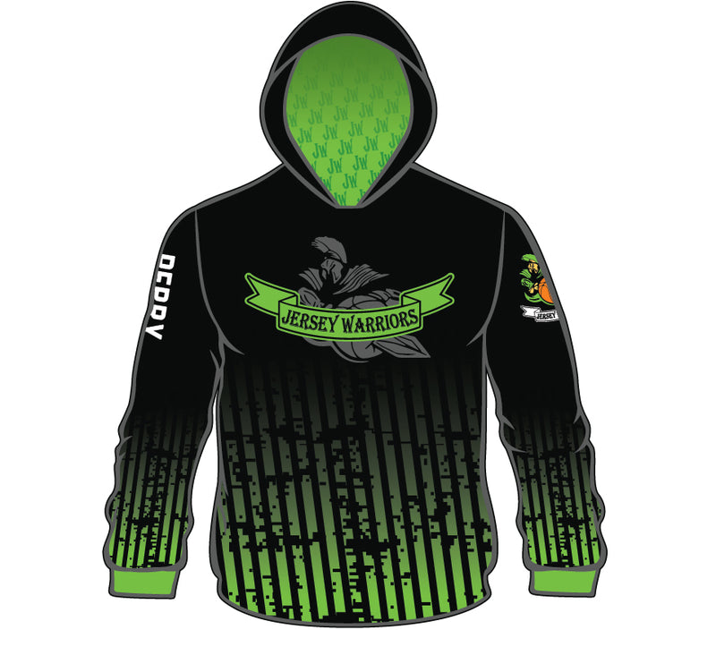 JERSEY WARRIORS SUBLIMATED HOODIE BLK