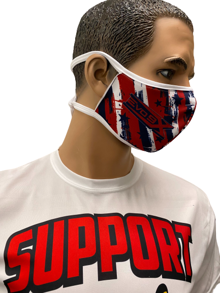 Evo9x Barbed Tie Back Fabric Face Masks - 10 Pack