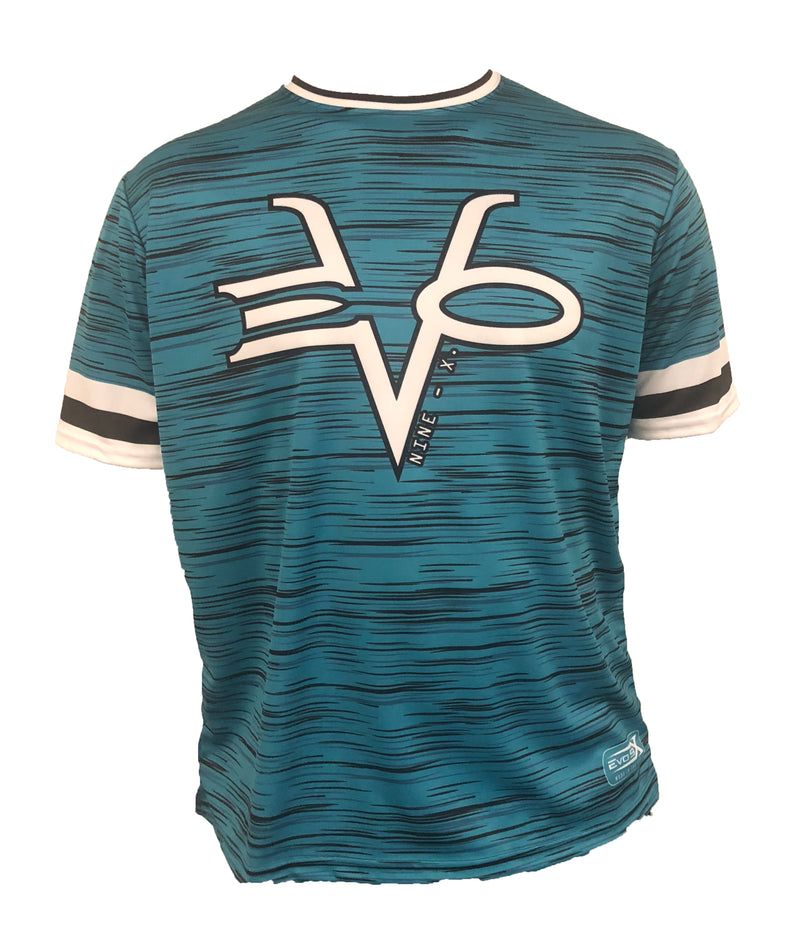 Evo9x RINGER TEAL Full Dye Sublimated Crew Neck Jersey