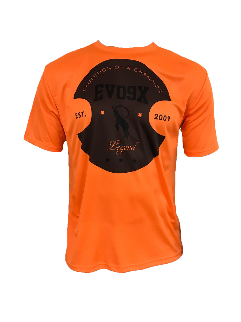Evo9x EVO IBEX SHIELD Semi Sublimated Jersey Orange- CLEARANCE