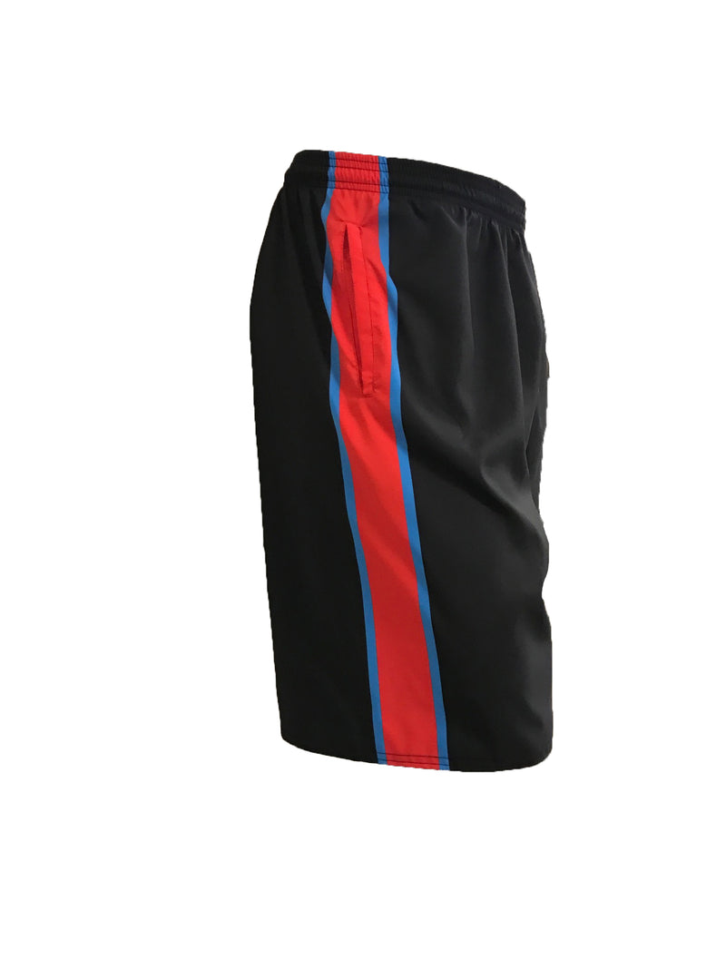 Full Dye Sublimated Micro Fiber Shorts BLACK EXPOS