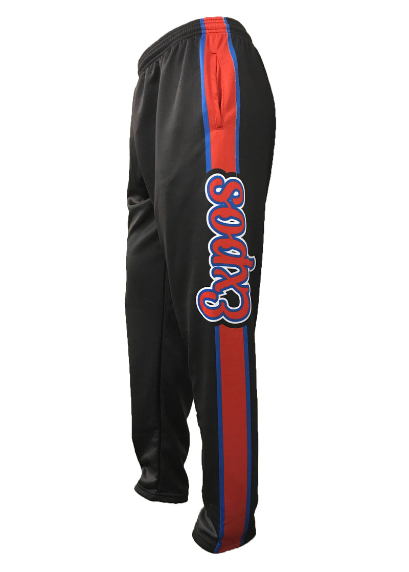Evo9x EXPOS Full Dye Sublimated Sweat Pants Black/Red