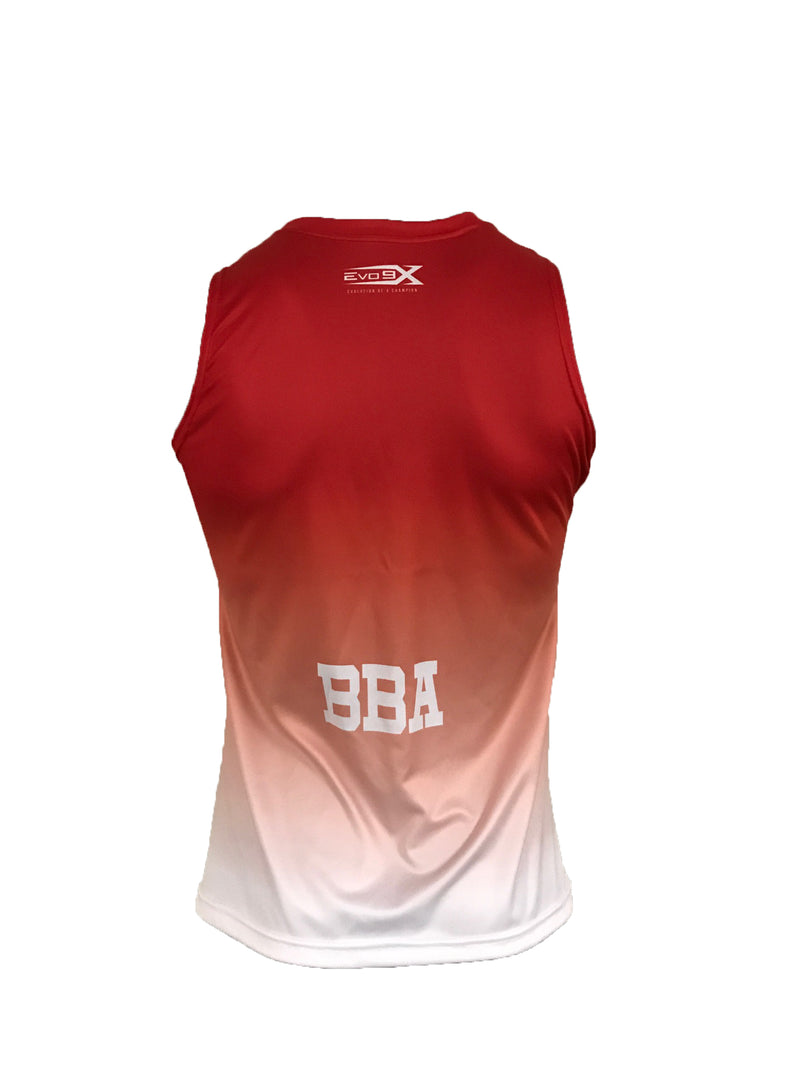Full Dye Sublimated Women's Sleeveless Top RED FADE EXPOS