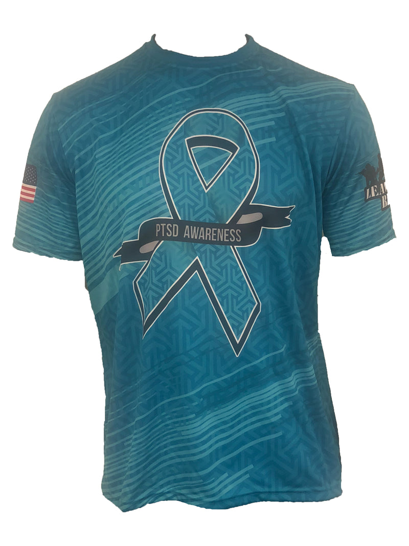Custom Evo9x PTSD Awareness Full Dye Sublimated Crew Neck Shirt