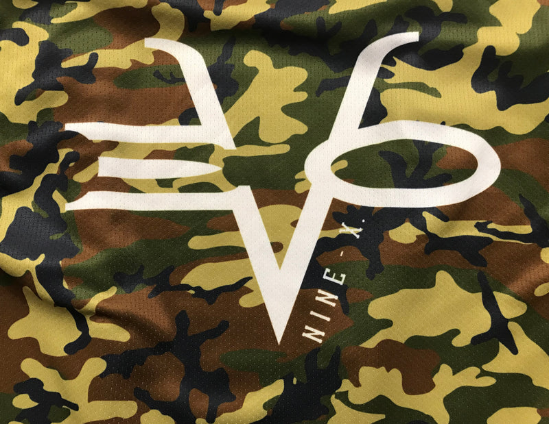 Evo9x Full Dye Sublimated Full Zipper Woodlands Camo Jacket