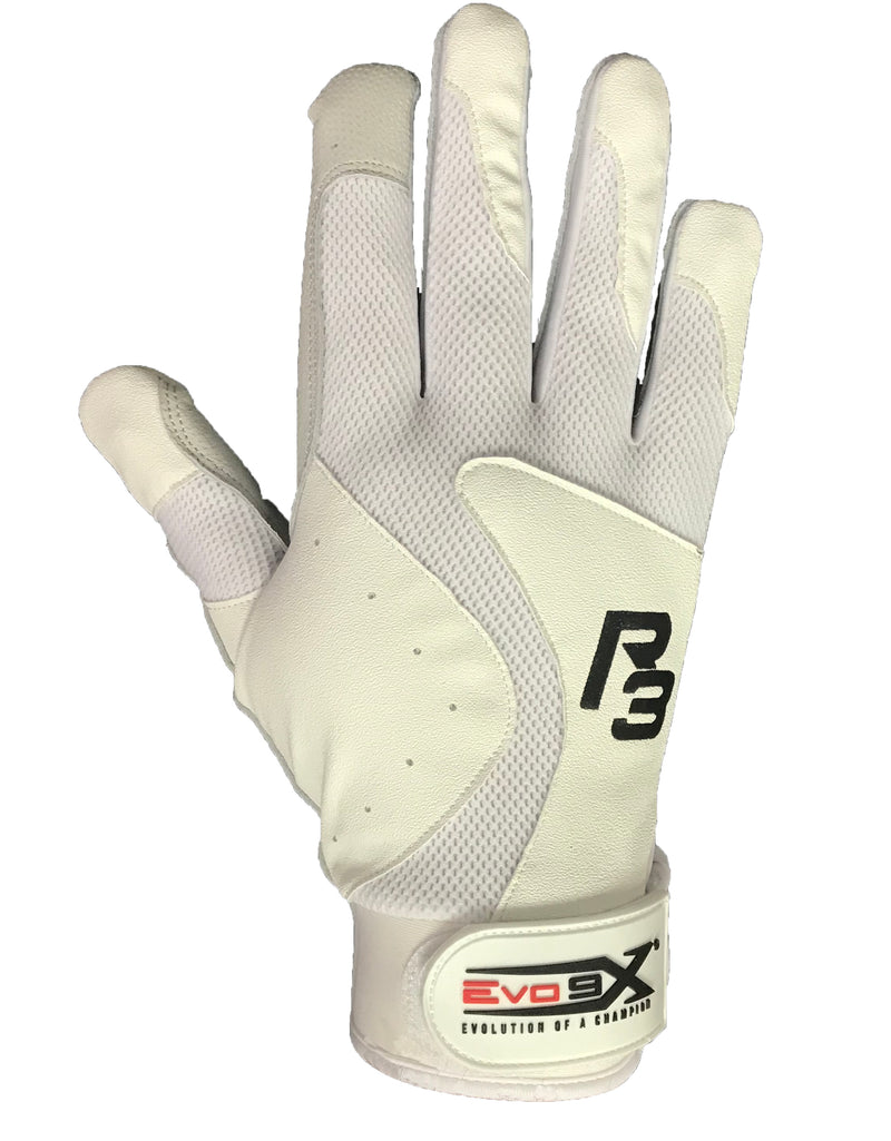 Evo9x R3 Adjustable Wrist Batting Gloves White