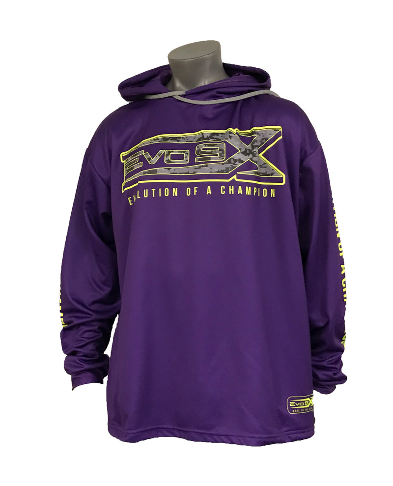 Evo9x EVOLUTION OF A CHAMPION Long Sleeve Hoodie Purple