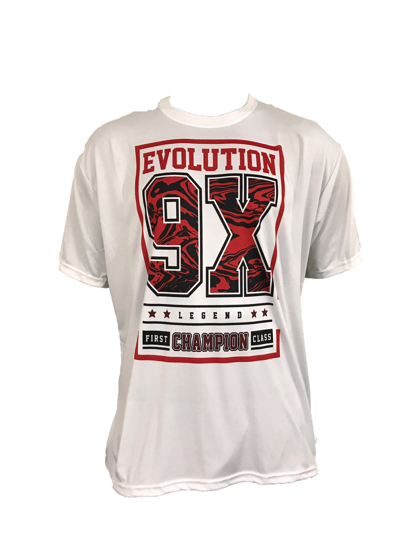 Evo9x EVO 9X BLOCK Semi Sublimated Crew Neck Jersey White