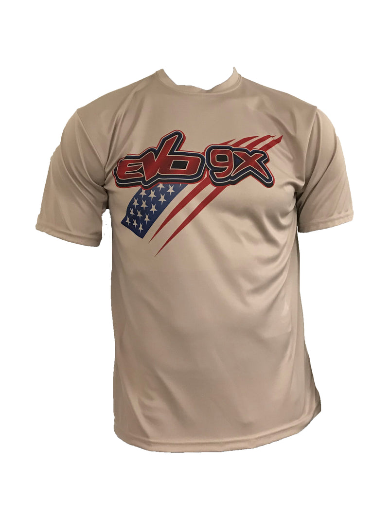 Evo9x EVO FLAG Semi Sublimated Short Sleeve Crew Neck Jersey