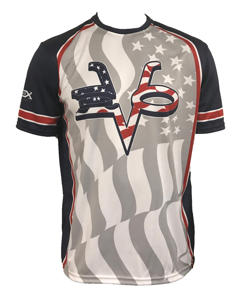 WOMENS EVO STAR SPANGLED BANNER SHIRT