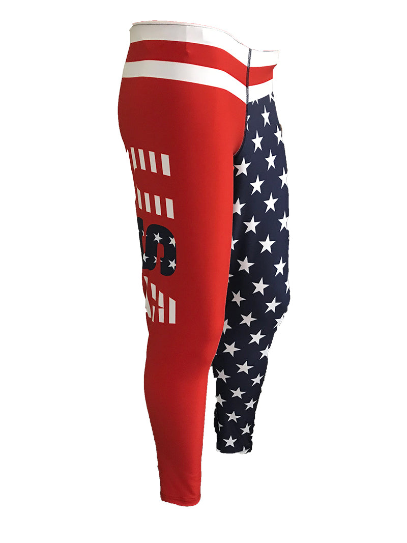 WOMENS STARS N STRIPES USA LEGGINGS