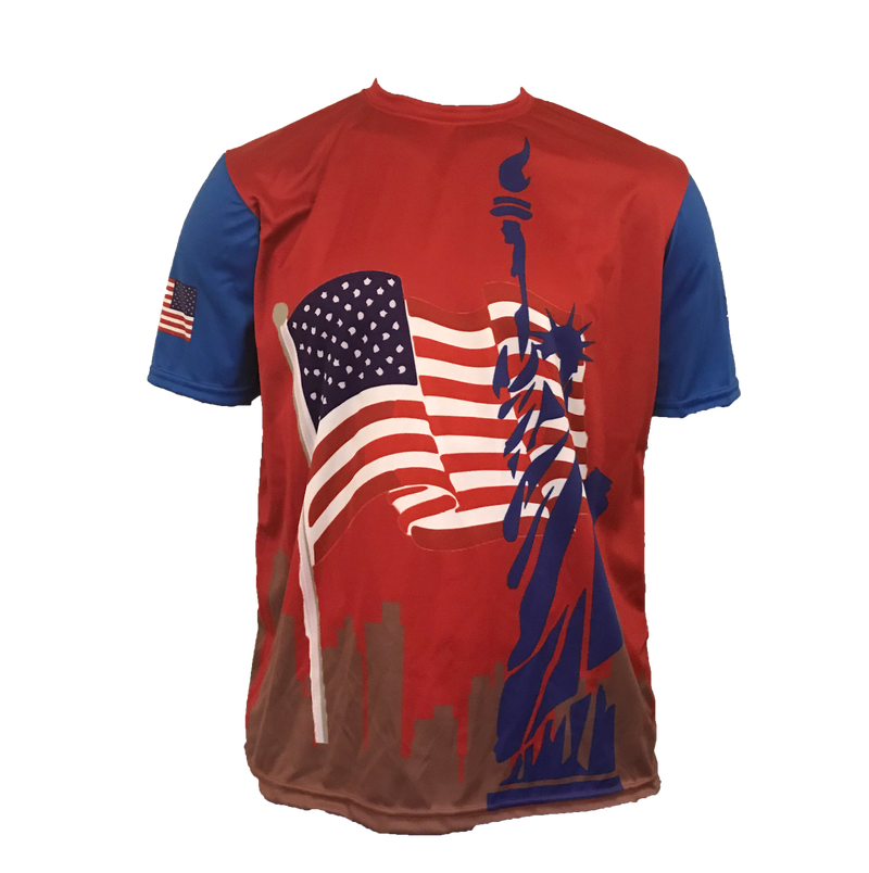 MENS EVO CITYSCAPE USA SHIRT