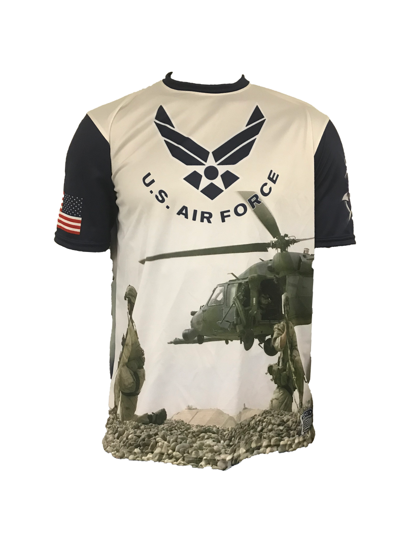 Evo9x U.S AIR FORCE Full Sublimated Crew Neck Short Sleeve Shirt