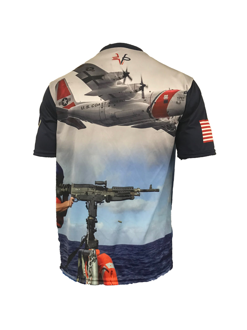 Evo9x COAST GUARD Full Dye Sublimated Crew Neck Shirt Dark Royal