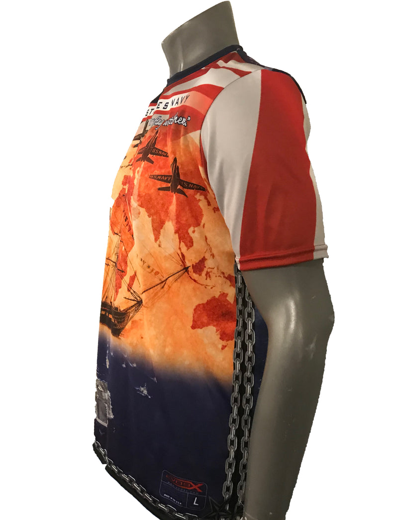 FULL DYE SUBLIMATED NAVY '18 MEMORIAL SHIRT