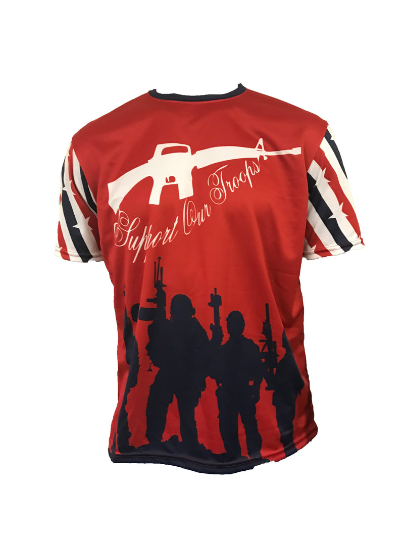 WOMENS EVO USA TROOPS CREW NECK SHIRT