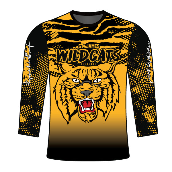 ST JAMES WILDCATS LONG SLEEVE SHIRT
