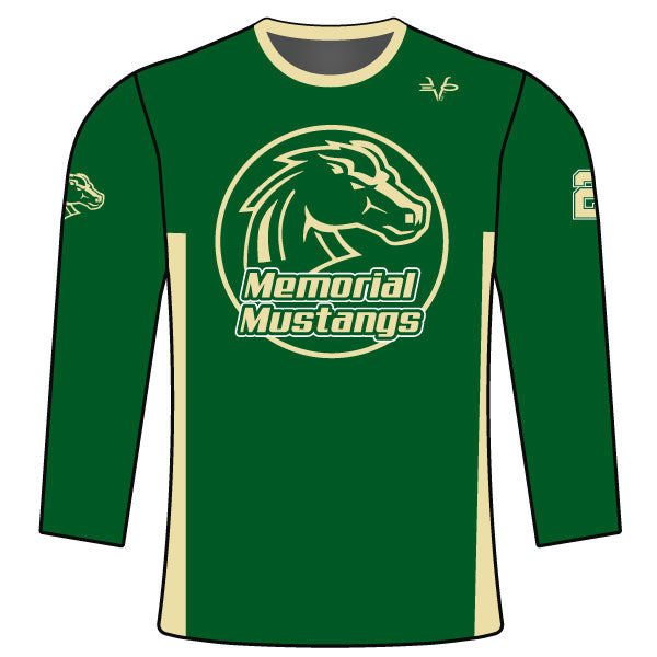MEMORIAL MUSTANGS LONG SLEEVE SHIRT
