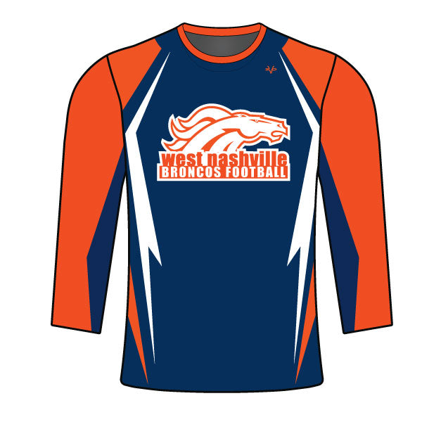 Evo9x BRONCOS Full Dye Sublimated Long Sleeve Shirt