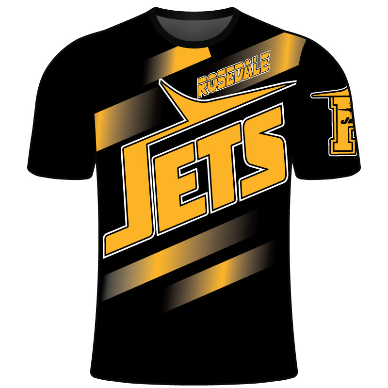 ROSEDALE JETS SUBLIMATED SHORT SLEEVE SHIRT BLK