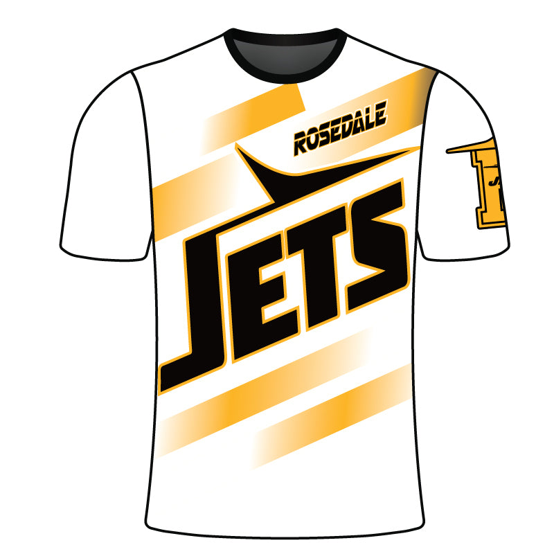 ROSEDALE JETS SUBLIMATED SHORT SLEEVE SHIRT WHT