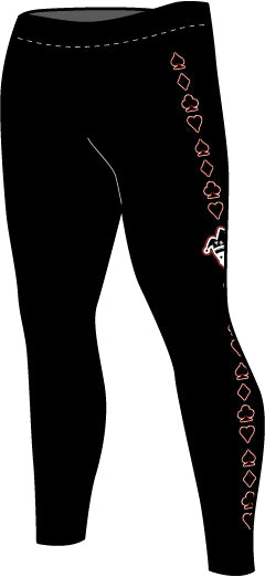 MENS AND YOUTH JOKER CARDS COMPRESSION TIGHTS (VARIOUS COLORS)