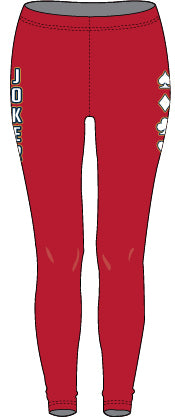 WOMENS JOKER SIDE CARDS COMPRESSION TIGHTS (VARIOUS COLORS)