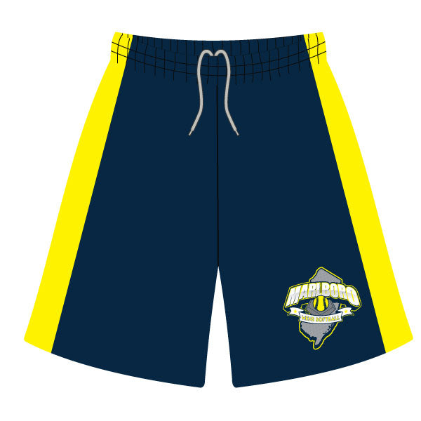 MARLBORO SOFTBALL SHORTS NAVY