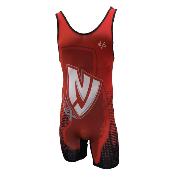 Evo9x NJ Team Full Dye Sublimated Wrestling Singlet