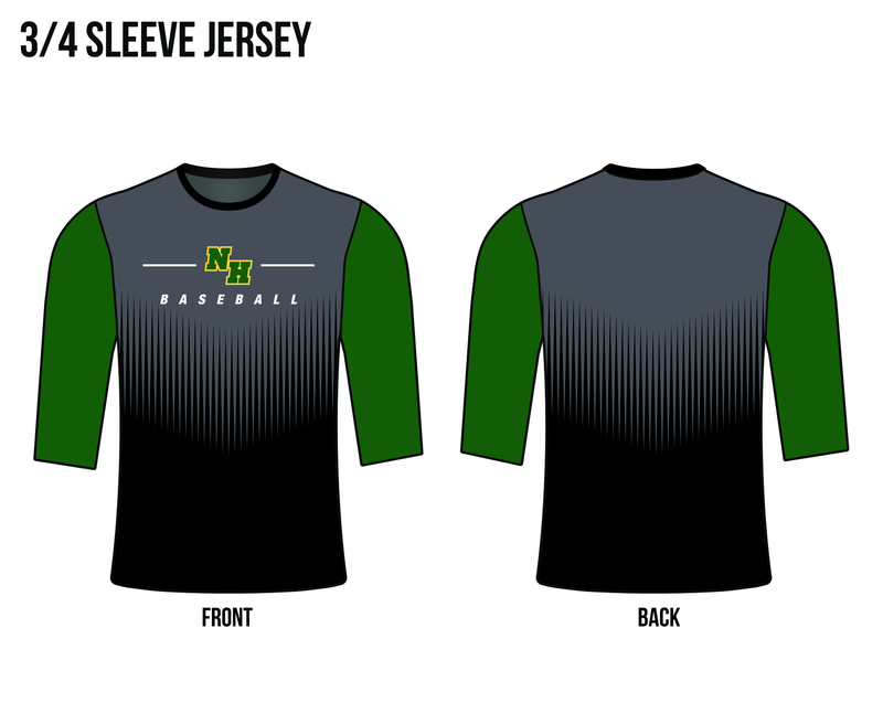 Evo9x NORTH HUNTERDON Full Dye Sublimated 3/4 Sleeve Shirt