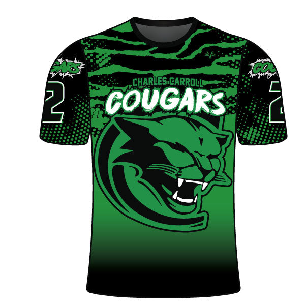 Evo9x CHARLES CARROLL COUGARS Full Sublimated Crew Neck Shirt
