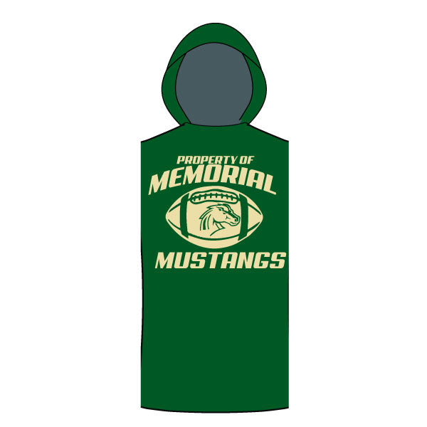 MEMORIAL MUSTANGS SLEEVELESS TSHIRT HOODIE