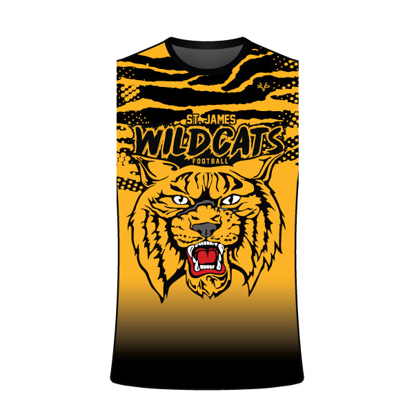 ST JAMES WILDCATS SLEEVELESS CREW SHIRT