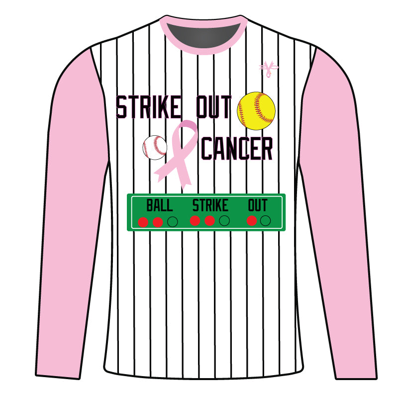 WOMENS EVO STRIKE OUT BREAST CANCER LONG SLEEVE SHIRT
