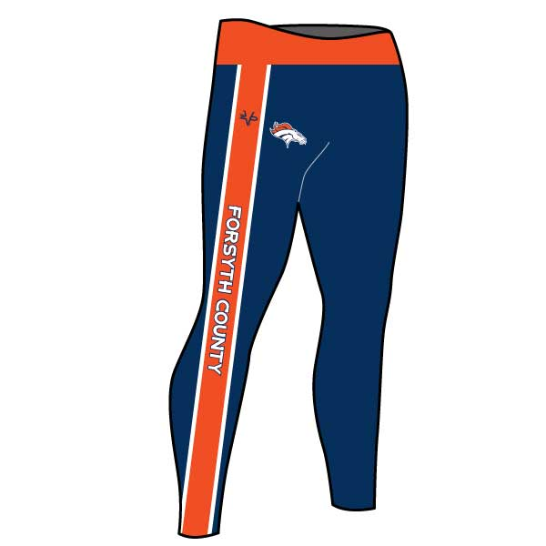 FORSYTH COUNTY BRONCOS TIGHTS