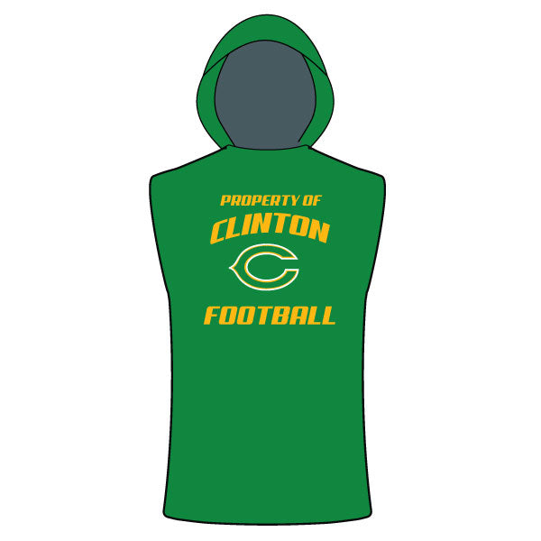 CLINTON GAELS SLEEVELESS COMPRESSION HOODIE