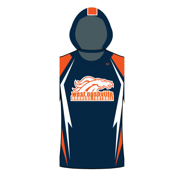 Evo9x BRONCOS Full Dye Sublimated Sleeveless T-Shirt Hoodie