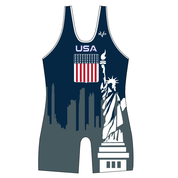 Evo9x USA STATUE Full Dye Sublimated Wrestling Singlet