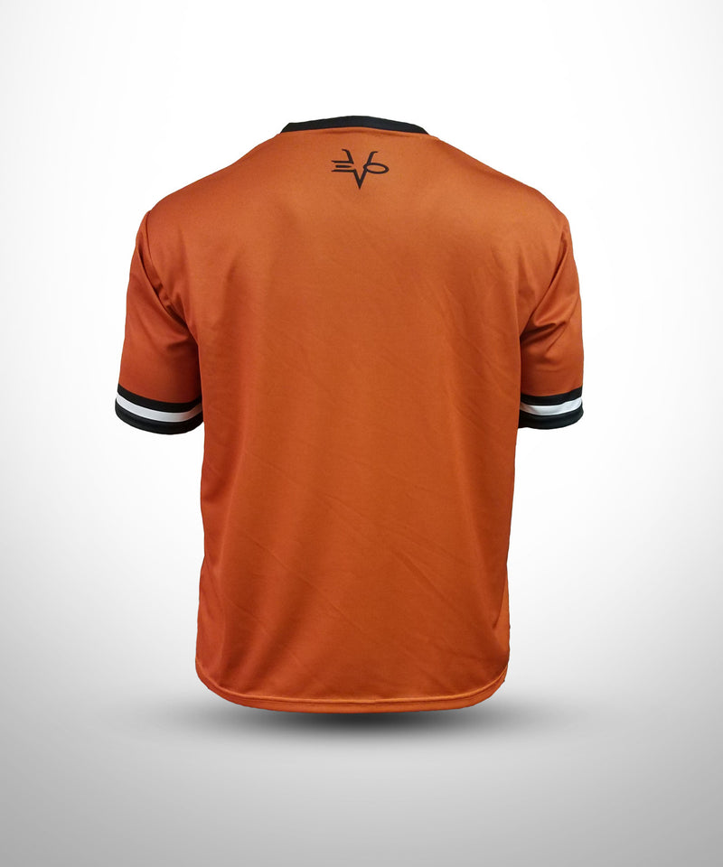 Evo9x BASEBALL U Full Dye Sublimated Short Sleeve Jersey Orange