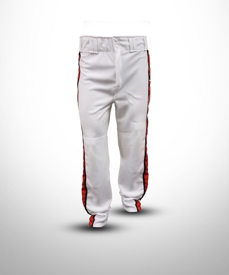 Evo9x BASEBALL U Full Dye Sublimated Panels Baseball Pant White