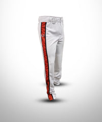 Baseball Pant with sublimated side Panel White-TOrange