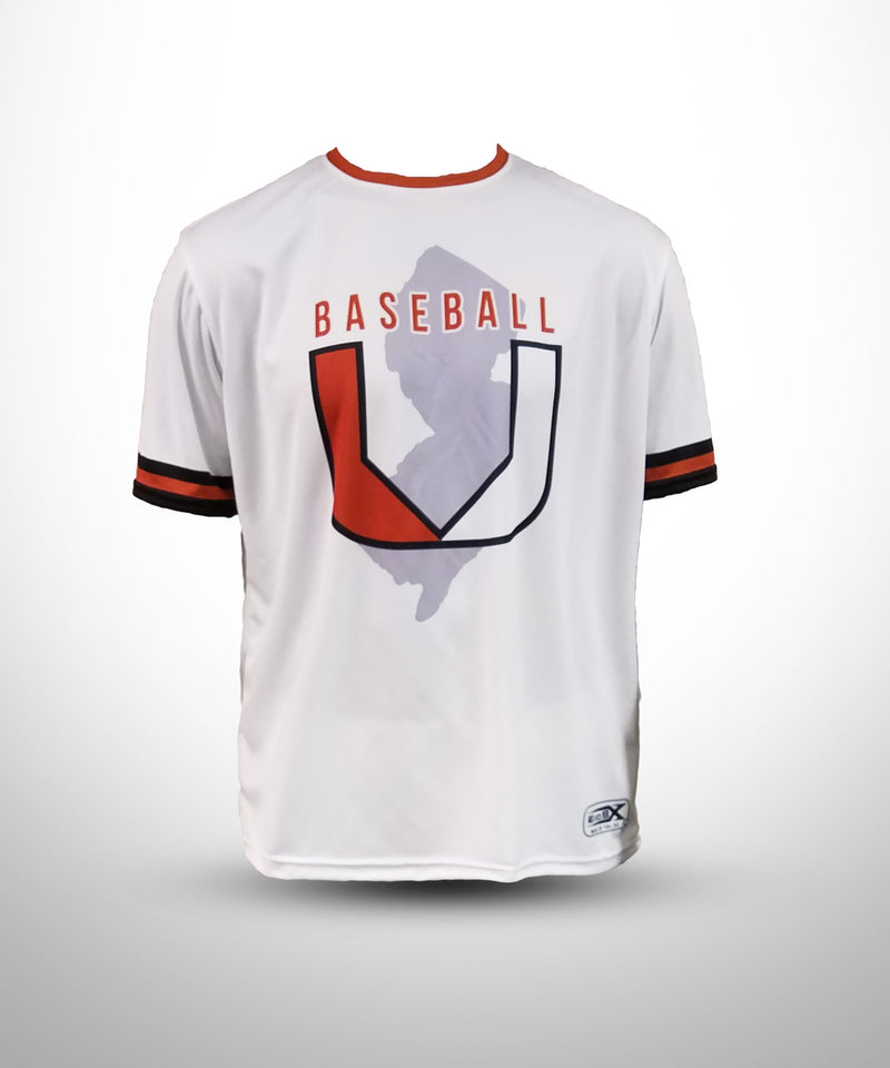 Evo9x BASEBALL U Full Dye Sublimated Short Sleeve Jersey White