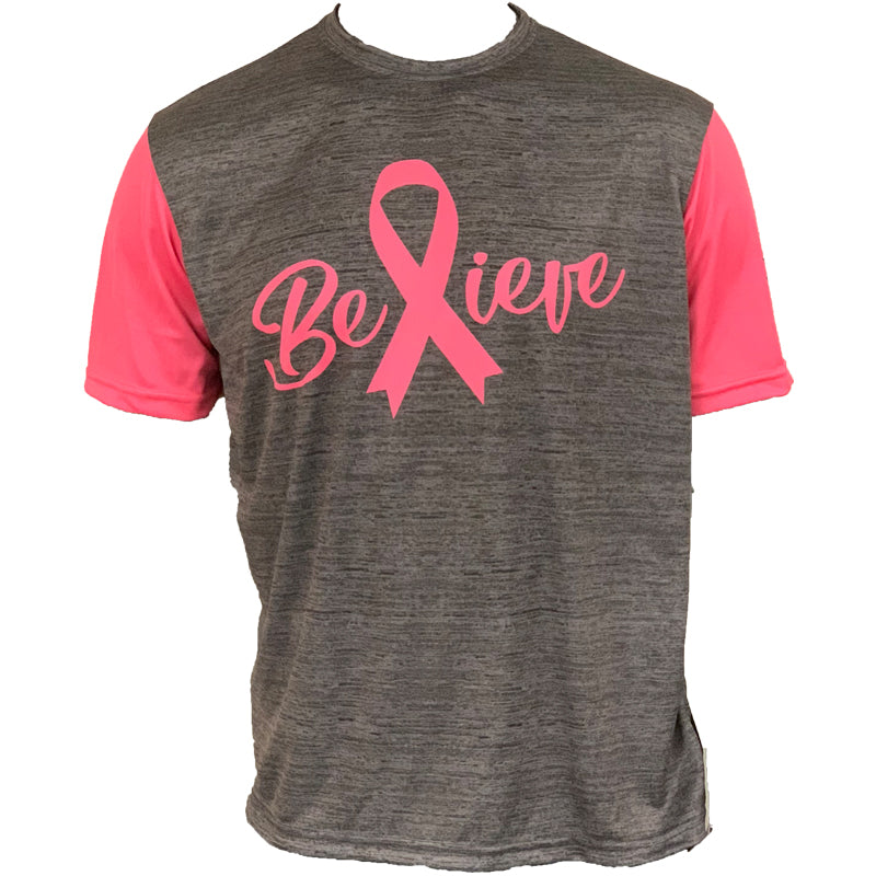 Evo9x BELIEVE Full Sublimated Breast Cancer Awareness Crew Neck Shirt